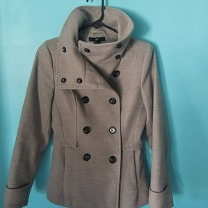 Fall tan colored pea coat